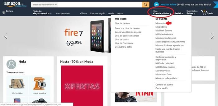 Como registrarse en Amazon