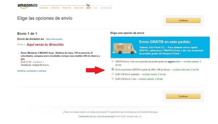Métodos de envío Amazon