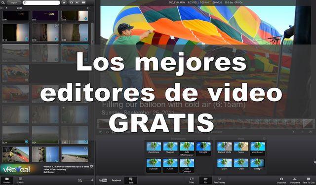 Mejores editores de vídeo gratuitos