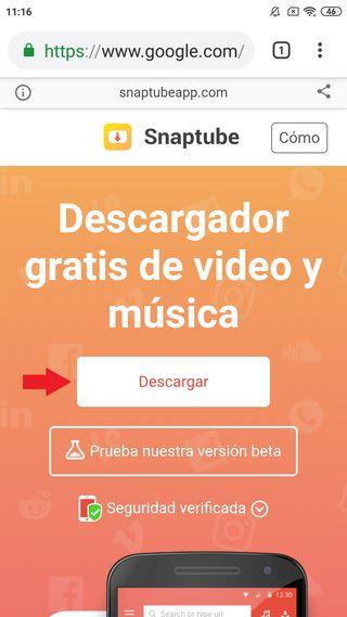 Descargar Snaptube para Android Gratis 1
