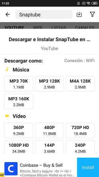 Descargar Snaptube para Android Gratis 5