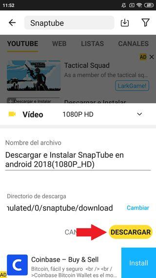 Descargar Snaptube para Android Gratis 6