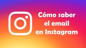 Cómo saber el email de una cuenta de Instagram